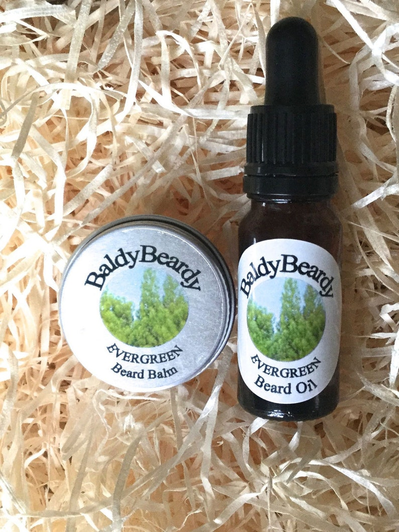 Evergreen beard oil and balm combination pack. A hydrating image 0