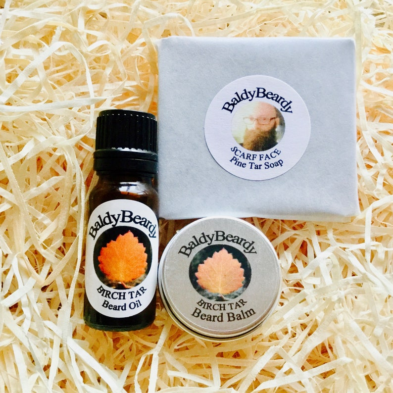 Pine and Birch Tar beard care grooming maintenance package. image 0