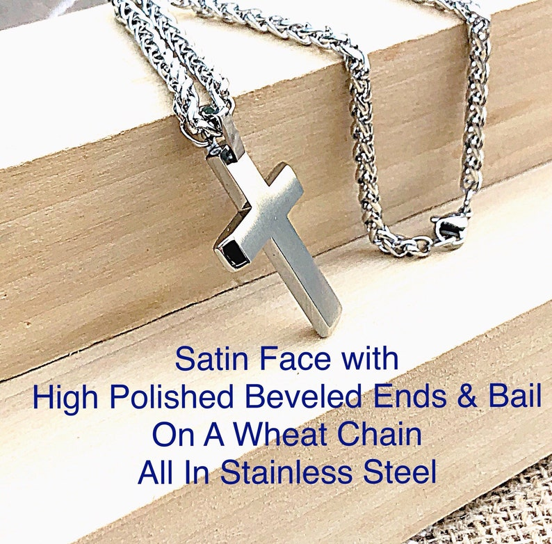 42ba104c5ff Stainless Steel Mens Satin and High Polish Beveled Modern | Etsy