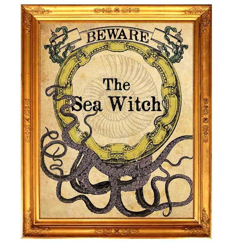 "Poster 24/"" x 36/"" Mermaid On The Sea"