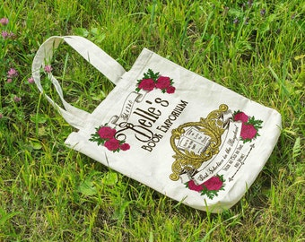 Beauty and the Beast, Belles Book Emporium, Beauty and the Beast Canvas Tote, Disney Bag