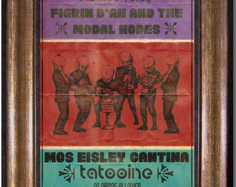 Cantina Band, Mos Eisley Cantina -  Star Wars Inspired Vintage Style Poster -Available in Sizes 5x7, 8x10, 11x14, 16x20, 18x24, 20x24, 24x36