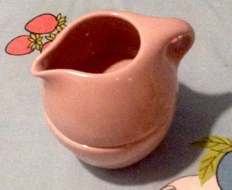 MCM Russel Wright Pink Iroquois Stackable Sugar /& Creamer