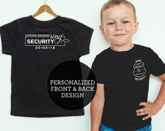 Ring Security Shirt, Ring Bearer Shirt, Boys Bridal Party Gift, Ring Bearer Gift, Ring Bearer Shirt, Ring Secuirty Shirt
