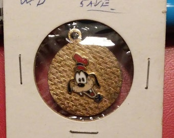 Goofy Head Disney Pendant Goldtone No Chain