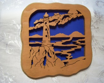 Scroll Saw Light House wall decorations