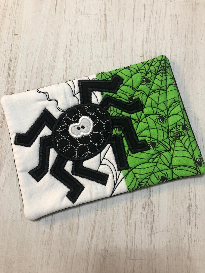 Spider Halloween Mug Rugs,Coasters,gift,Halloween gift teacher gift,. Fabric Coaster Coffee Lover,Hostess Gift