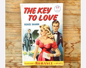 459ea0654f 50s romance thriller pulp fiction magazine book novella The Key to Love by  Renee Shann Pearson's Romance Library