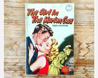 60edcb89de 50s romance thriller pulp fiction magazine book novella The Girl in the  Morton Case by Diane Atherton The Lucky Star Library