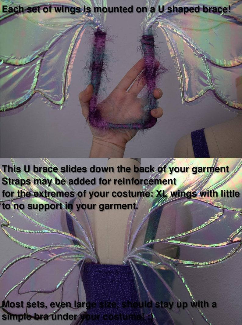 Extra Large DeetDark Crystal Gelfling Inspired Fairy Wings