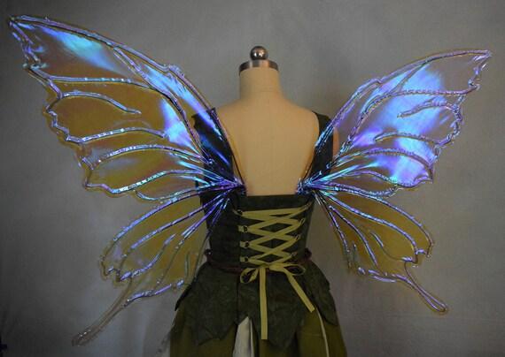 Flores y flutter Bugs-Hada Alas De Mariposa Niña Vestido para arriba Craft Botones