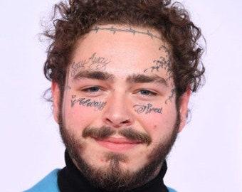 907e555fe TEMPORARY TATTOO - Post Malone Face Tattoo/Tekashi69 / 6ix9ineTattoos /  Face Tattoos /Halloween Costume / RappersTattoos Lil PumpTattoo Set