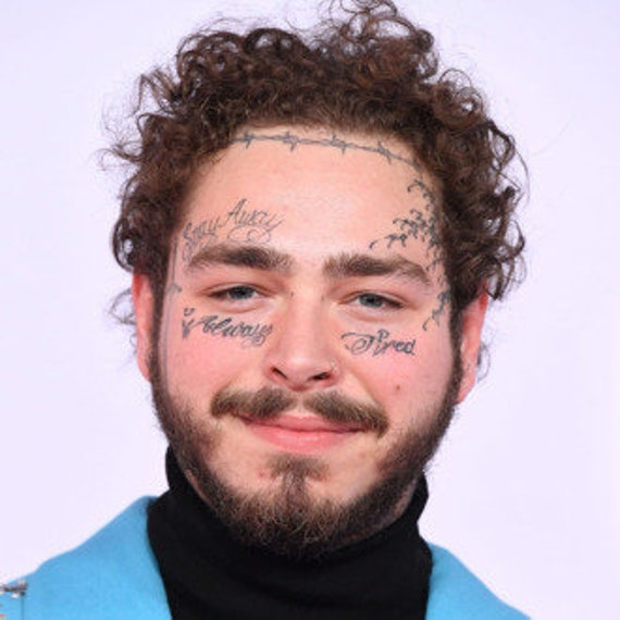 Temporary Tattoo Post Malone Face Tattootekashi69 6ix9inetattoos Face Tattoos Halloween Costume Rapperstattoos Lil Pumptattoo Set