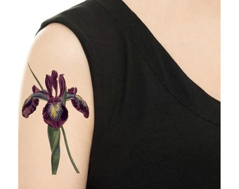 Temporary Tattoo - Vintage Flower - Various Patterns and Sizes / Tattoo Flash