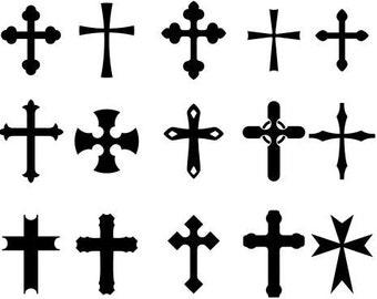 Temporary Tattoo - set of 15 Cross / Set of 9 Keys and Cross / Set of 10 Keys / Tattoo Flash/Hamsa/Free yourself