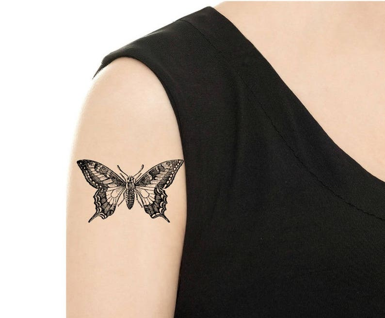 TEMPORARY TATTOO  Vintage Butterfly  Various Patterns / PIC. 1