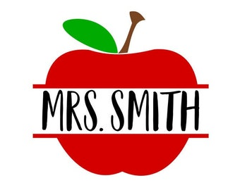 Teacher Apple Svg Etsy