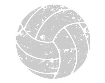 Volleyball SVG, Volleyball Grunge SVG, Digital Download for Cricut, Silhouette, Glowforge (includes svg/png/dxf file formats)