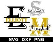 Split Monogram SVG DXF PNG, Split Monogram Frame Alphabet, Digital Download Cricut, Silhouette, Glowforge, 26 individual svg dxf png files