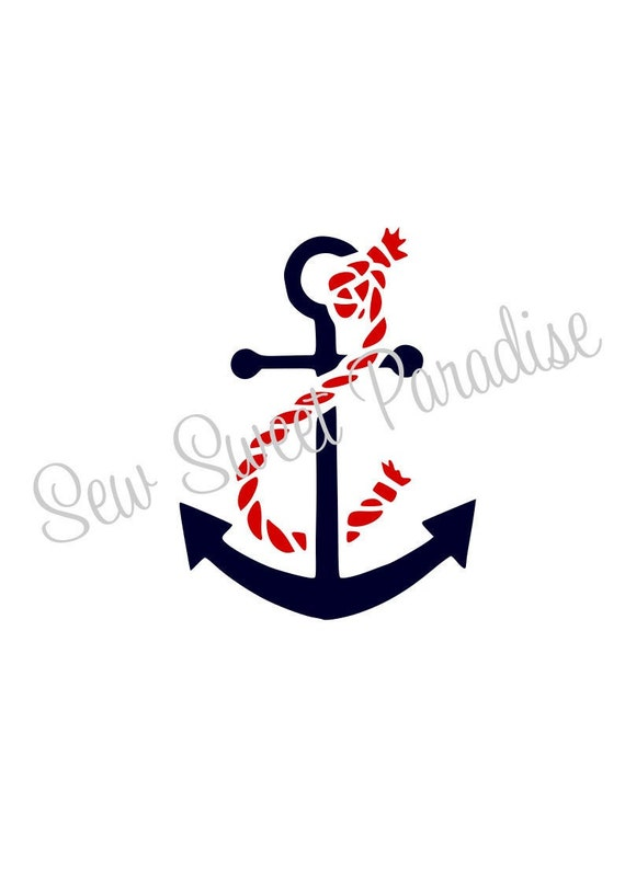 Anchor Rope Svg File Digital Download For Cricut And Etsy
