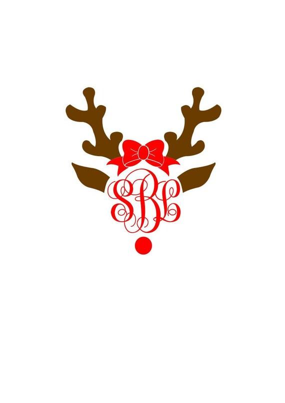 Reindeer Frame Interlocking Fancy Monogram Svg Dxf Alphabet Etsy
