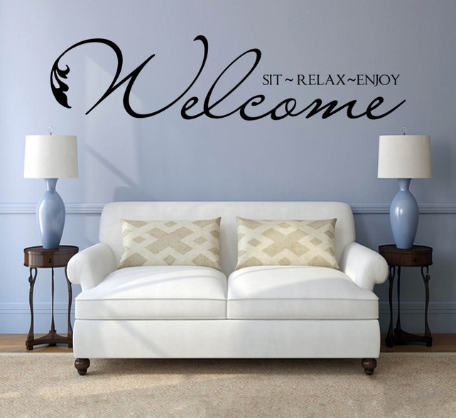 Welcome Decal Wall Decal Vinyl Welcome Decal Business Wall | Etsy