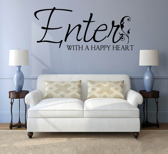 Welcome Wall Decals Home Wall Decal Vinyl Quote Decal Wall Etsy