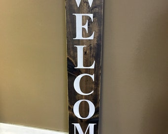 Wood welcome sign, front door welcome sign, rustic welcome sign, Merry Christmas Sign
