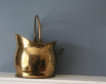 Vintage Brass Pitcher Bucket Pail