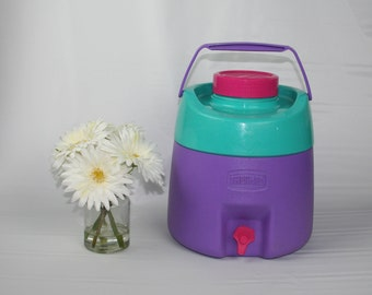 Vintage Purple/Pink Thermos Beverage Jug Cooler