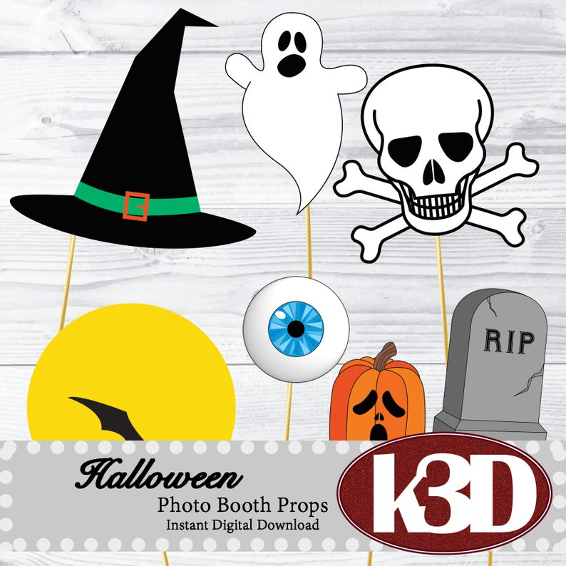 photo about Halloween Photo Booth Props Printable called Halloween Image Booth Props PRINTABLE, established of 21 image booth props, downloadable