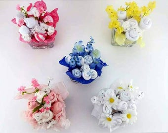 Baby Shower Flowers - Baby Sock Bouquet - Unique Baby Gift - New Baby Gift - Baby Shower Decor - Baby Bouquet - Clothing Bouquet - Baby Gift