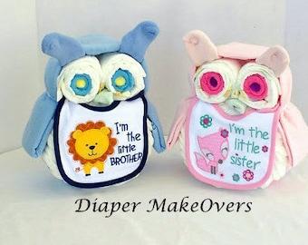 Owl Diaper Cake Diaper Cake Unique Baby Shower Gift Owl Etsy