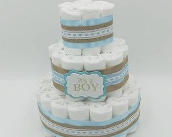 It's a Boy - Boy Diaper Cake - Boy Baby Shower