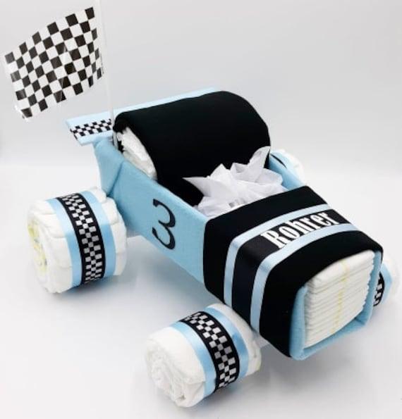 Race Car Diaper Cake - Diaper Cake - Baby Shower Gift - Baby Gift - Baby Shower Centerpiece - Race Car Theme