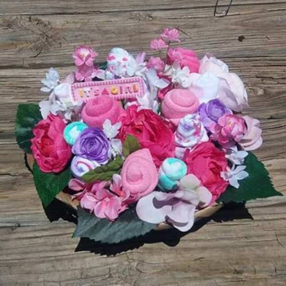 Baby Shower Gift Baby Bouquet Baby Floral Bouquet New Etsy