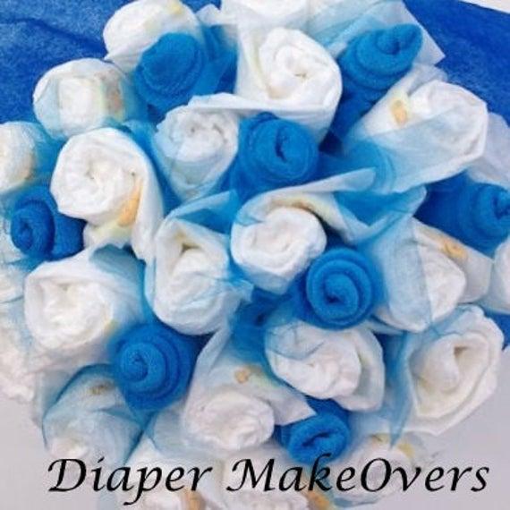 Diaper Bouquet Baby Shower Decoration Unique Centerpiece | Etsy