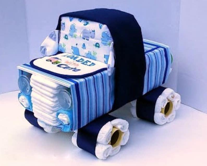 Truck Diaper Cake  Diaper Cake Boy  Unique Diaper Cake  image 0