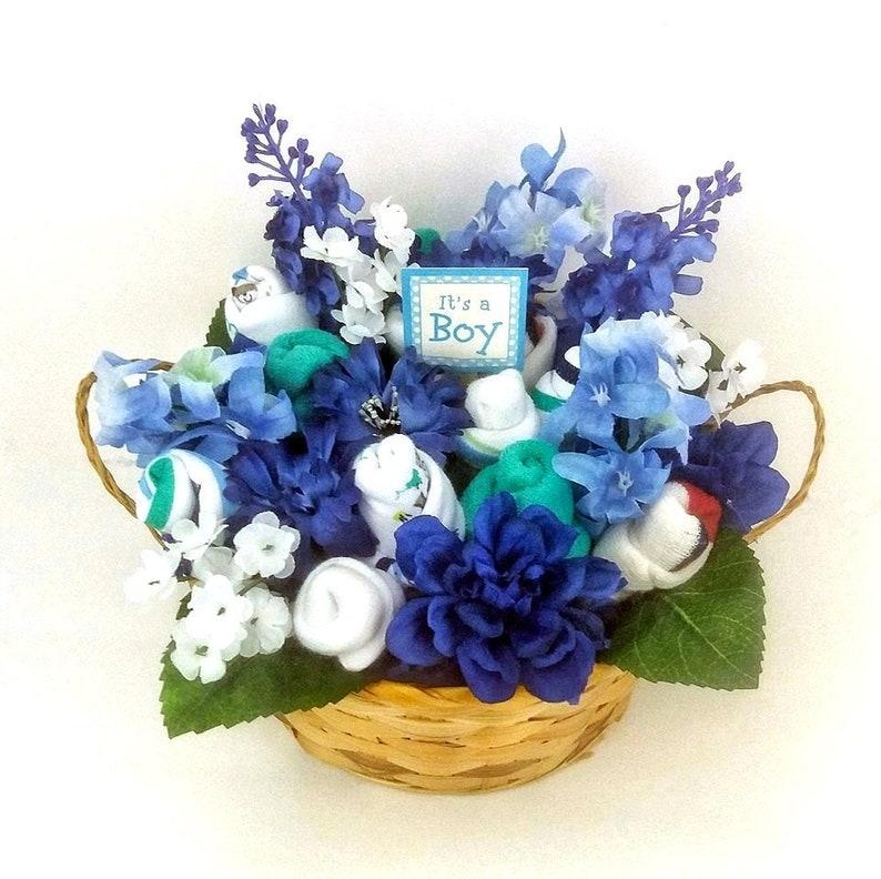 image 0  sc 1 st  Etsy & Itu0027s a Boy Flower Gift Basket New Mom Gift Gift | Etsy