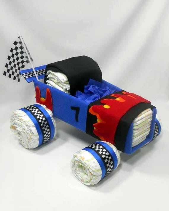 Race Car Diaper Cake Car Diaper Cake Baby Shower Etsy