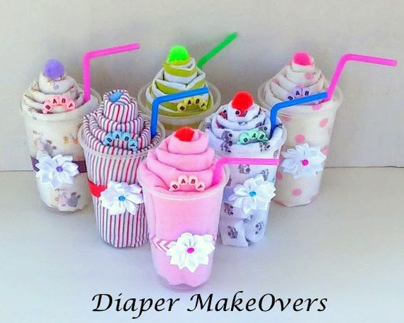 Receiving Blanket Milk Shake Gift Unique Baby Shower Gift Etsy