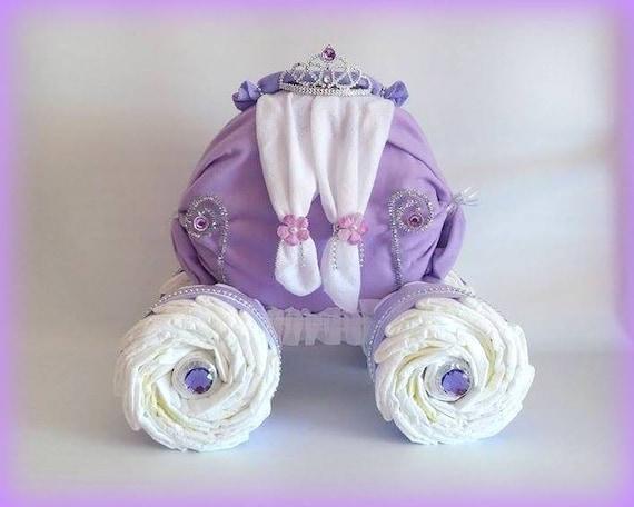 Carrosse de princesse princesse g teau de couches b b etsy - Carrosse de princesse ...