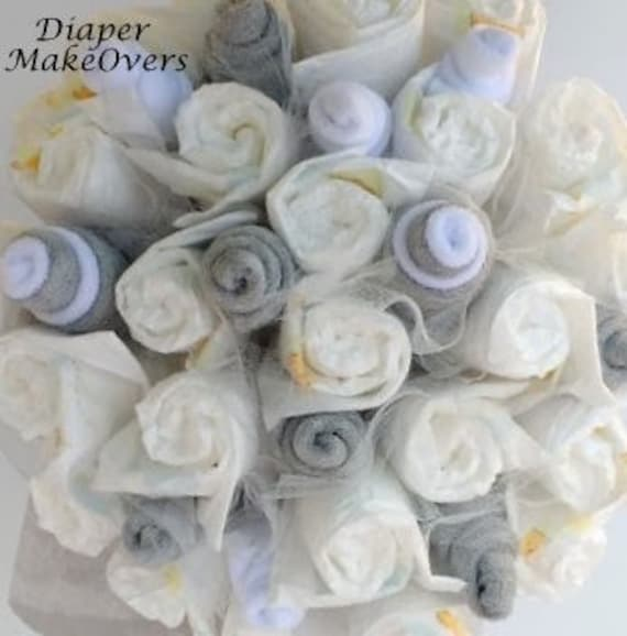 New Mom Gift Diaper Bouquet Unique Baby Shower Gift or | Etsy