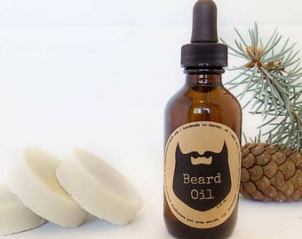 Handmade Beard Oil and Shave Soap Gift Set for Men ~ All Natural Beard Oil ~ Gifts For Him ~