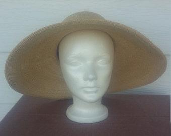 Frank Olive Wide Brim Straw Hat