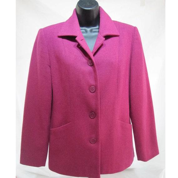 Hot pink blazer / coat