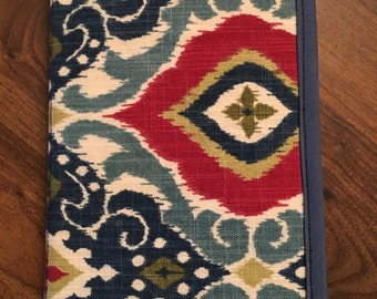 Handmade Kindle, Tablet Case\Cover, Red Green and Blue Ikat