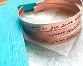 Cuff Bracelet For Women Hand stamped cuff bracelet-Personalized and custom bracelets for women-Copper cuff bracelet