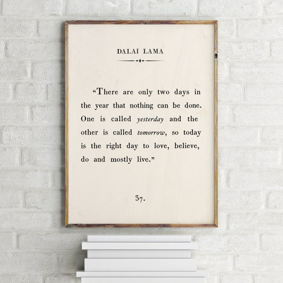 Dalai Lama Quote Print Custom Text Print Inspirational Etsy