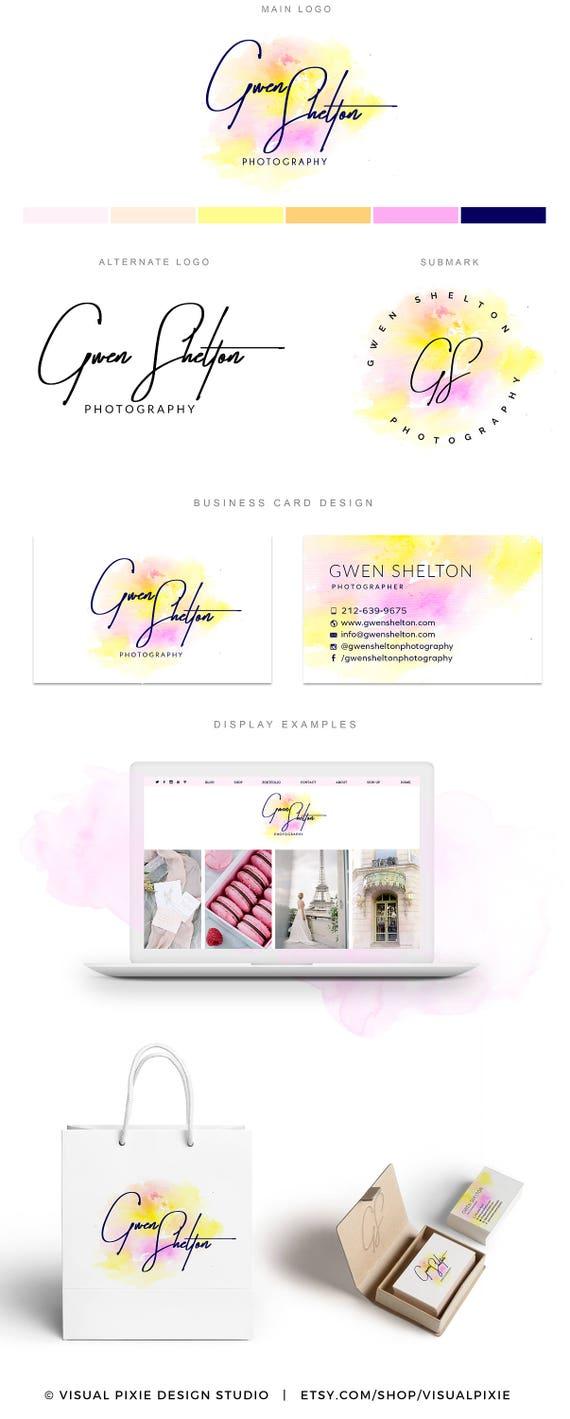 PREMIUM marca paquete Gold Sprinkles confeti rosa Logo | Etsy